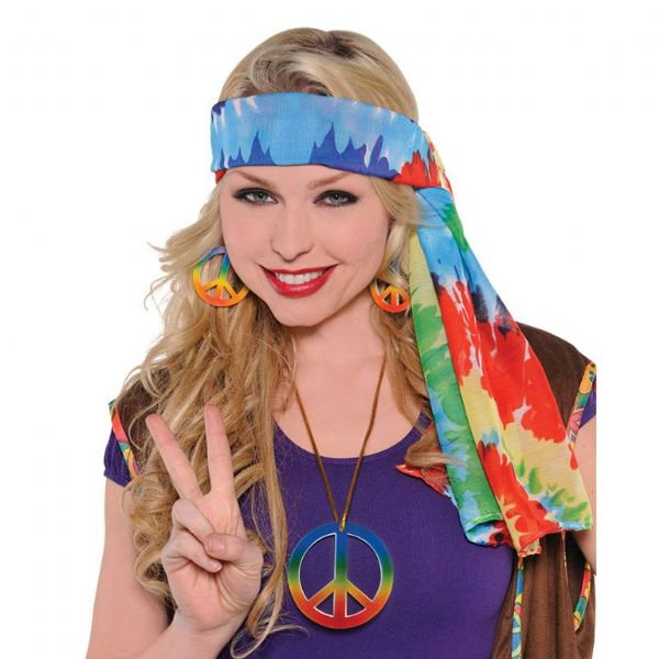 60`S Hippie Headscarf Fancy Dress Outfit Accessory